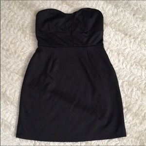 Silence + noise small strapless mini black dress